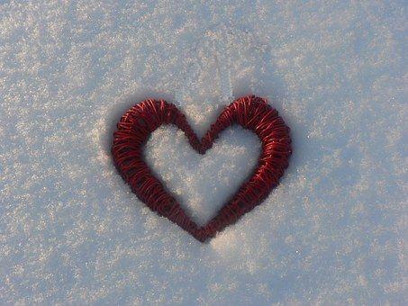 Srdce, Sníh, Mráz, Zimní, Krajina