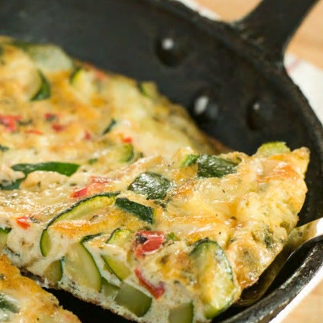 Vegetable Frittata Recipe http://cleanfoodcrush.com/veggie-frittata/