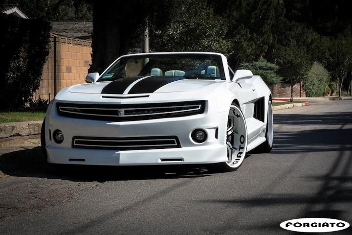 Sick White Widebody Camaro W Black White Forgiato Wheels