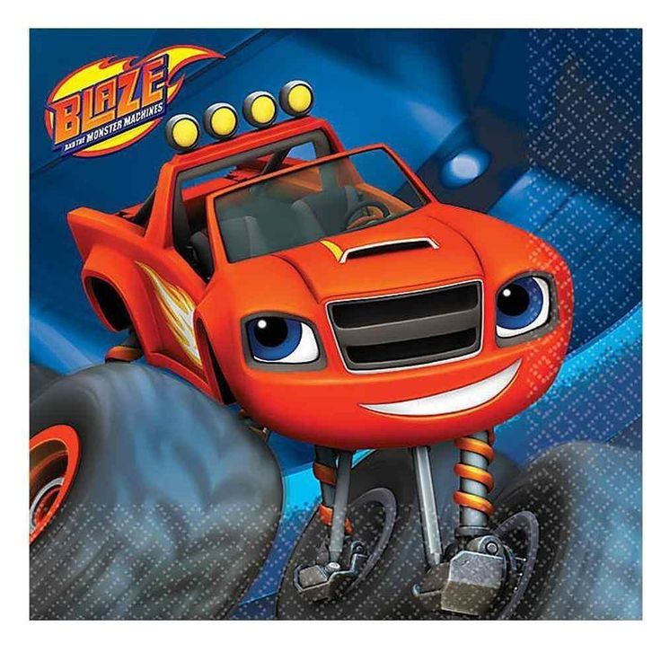 Blaze and the Monster Machines Beverage Napkins (16 per pack)