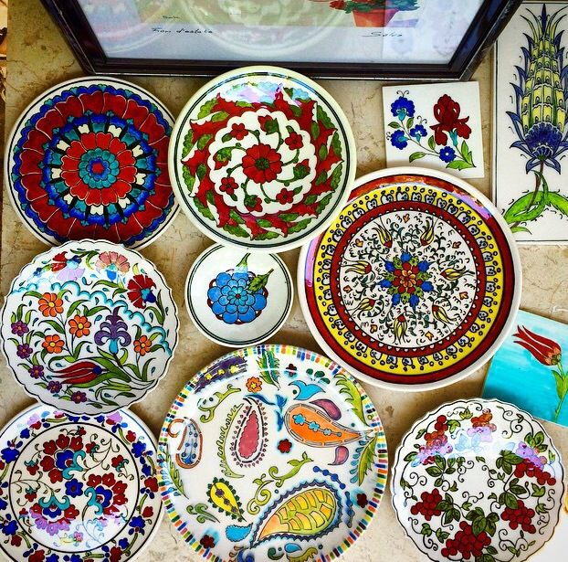 Turkish ceramic plates by www.grandbazaarshopping.com Hand-painted, boho kitchen  decor, boho chick, boho home decor