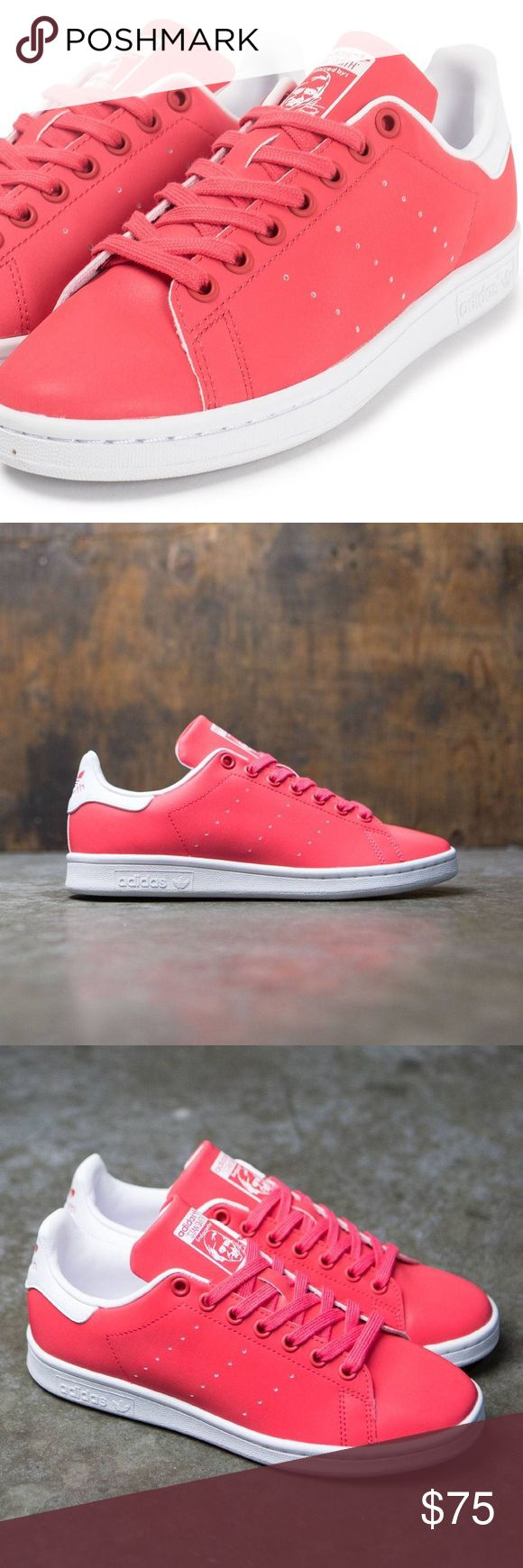 Adidas Stan Smith in coral / pink - size 8 - NIB!! Adidas Stan Smith sneakers in coral/pink. Size 8. Brand new in box!! A legendary court shoe updated with a modern twist. Full grain leather upper. Perforated 3-stripe detail.  🚫 Trades  🚫 Offline transactions  💛 Offers  💛 Bundles (10% off 2+)  💛 Smoke-free home adidas Shoes Sneakers