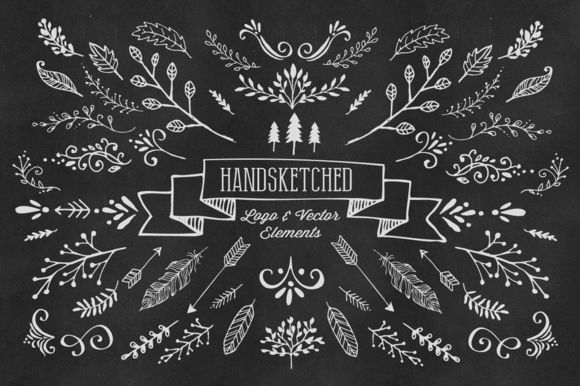 115 Hand-Sketched Vector Elements by Nicky Laatz on Creative Market