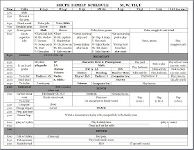Large Families on Purpose: Fall Schedule - 2012