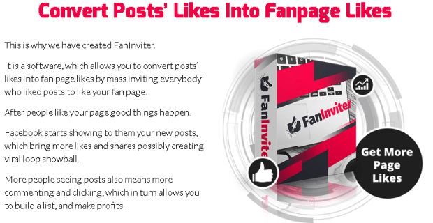 FanInviter Facebook Software By Andrew Darius is Best Powerfull Facebook App Software To Boost Your Fanpage Likes By Convert Posts Likes Into Fan Page Likes By Mass Inviting Everybody Who Liked Posts To Like Your Fan Page And Generate Much More Leads & Sales.  #facebook #facebookmarketing #facebookpage #marketing #internetmarketing #faninviter #jvzoo