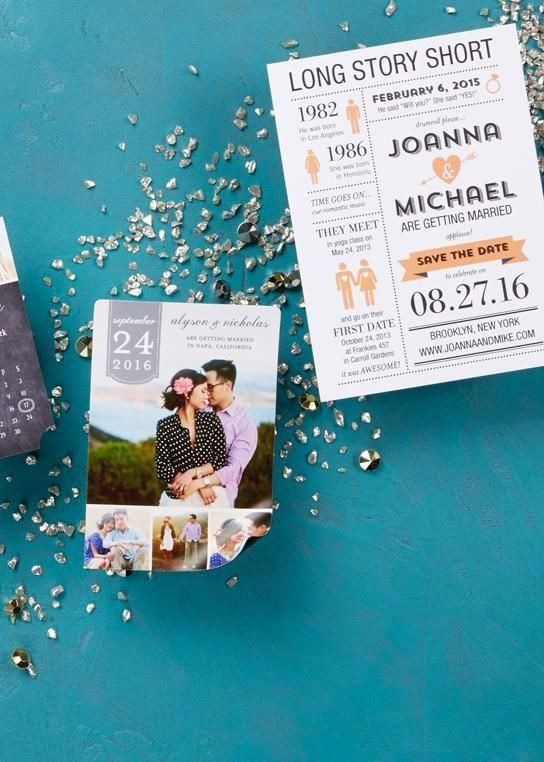 Pro-Tip: When sending save the dates, make sure you mail them at least six months in advance of your wedding. This will allow enough time for guests to book a flight, reserve a hotel or make any other necessary travel arrangements.