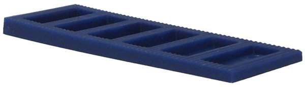 Interlocking Tapered Wedge 3-5mm Blue - fixings - wedges and packers - Interlocking Tapered Wedge 3-5mm Blue - Timber, Tool and Hardware Merchants established in 1933