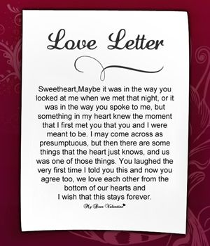 Romantic Ways To Intention A Letter
