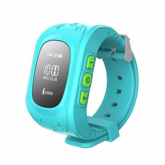 DisQounts - GPS tracker kind - GPS horloge - Stijlvol GPS horloge - Weet altijd waar je kind is - Blauw