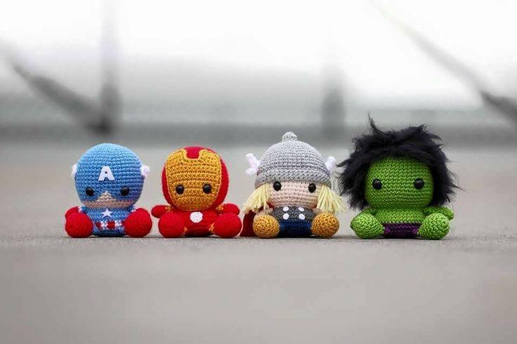 Amigurumi Avengers super cute kawaii crochet mini friends geek craft superheroes