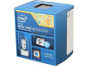 Intel Core i5-4670K Haswell 3.4GHz LGA 1150 84W Desktop Processor Intel HD Graphics BX80646I54670K