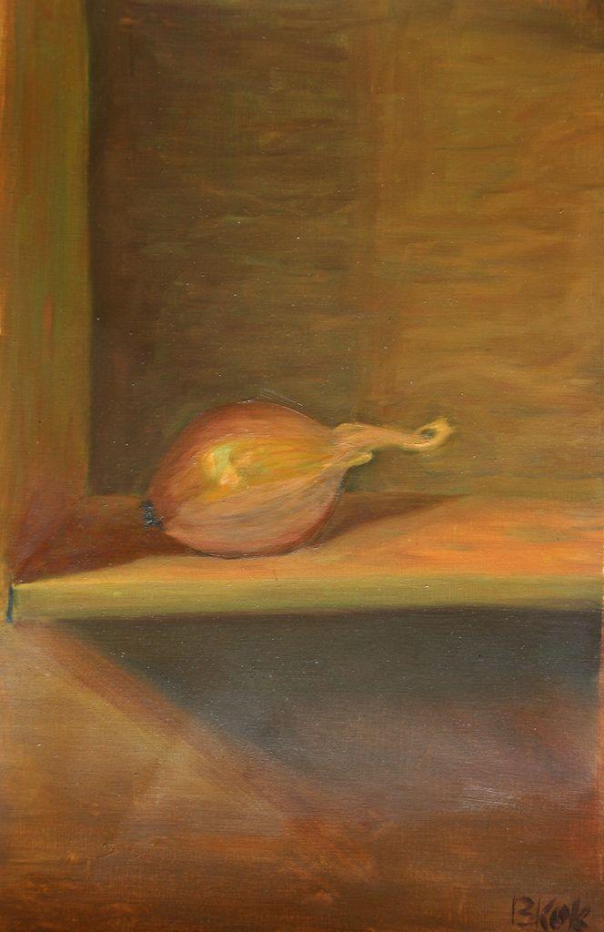 https://flic.kr/p/atAMbH   Still life of an onion   Peter Eurlings open inloop schilderlessen.