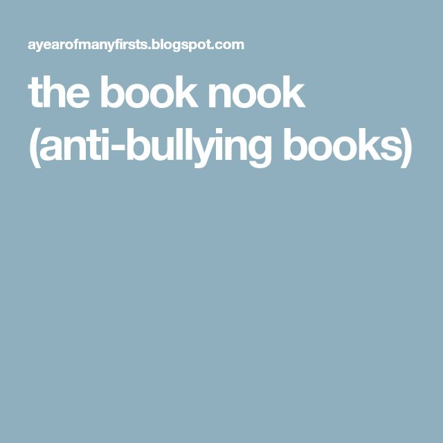 the book nook (anti-bullying books)