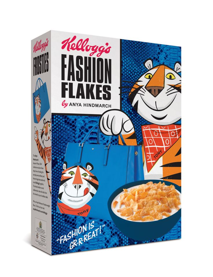 """<p tabindex=""""-1"""" class=""""tmt-composer-block-format-target tmt-composer-current-target""""><strong>Anya Hindmarch x Kellogg's:</strong> In addition to supplying editors with boxes of branded Frosted Flakes in their hotel rooms during London Fashion Week (thanks, Anya!), Hindmarch will also sell the boxes at Colette in Paris and Waitrose grocery stores in the UK. Photo: Anya Hindmarch</p>"""