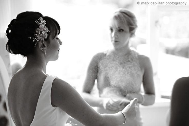 A bride sprays perfume wedding photographer sligo