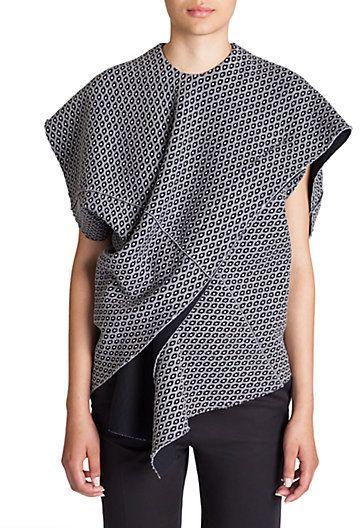 Marni Asymmetrical Wrap Top