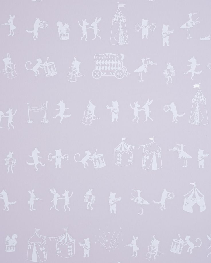 Girls room: Animal Parade by Hibou Home : Wallpaper Direct