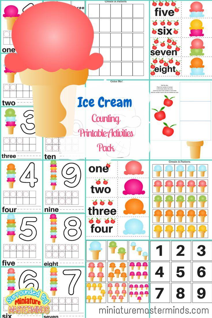 368 best ice cream images on pinterest kindergarten math. Black Bedroom Furniture Sets. Home Design Ideas