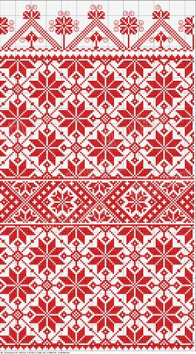 free knit chart fair isle flowers blanket idea