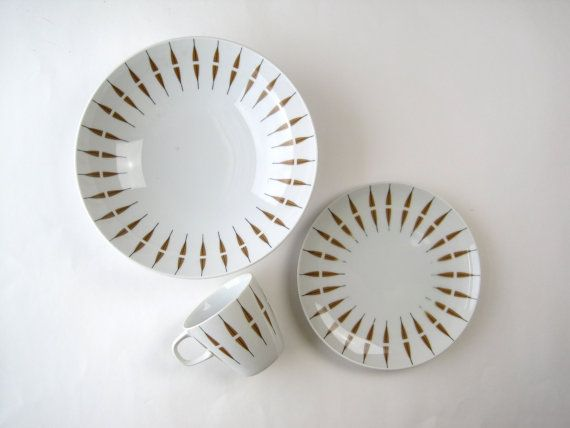 Midcentury Dinnerware Set / Mikasa Elite Tango by foundshop, $55.00