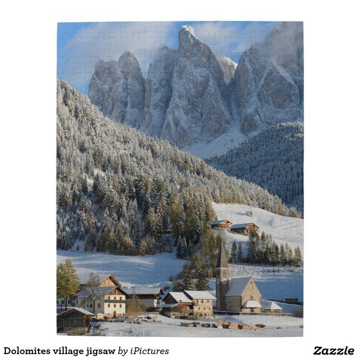 Dolomites village jigsaw jigsaw puzzle
