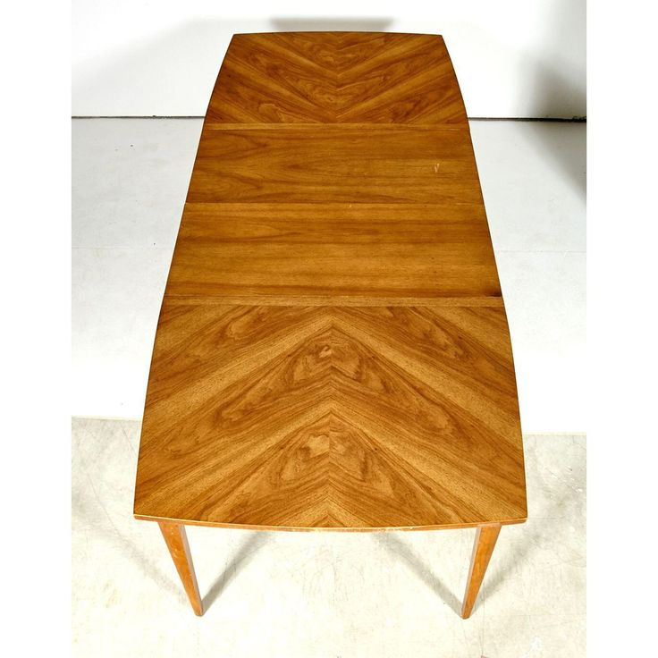 Vintage 1960s Diamond Accent Walnut Dining Table