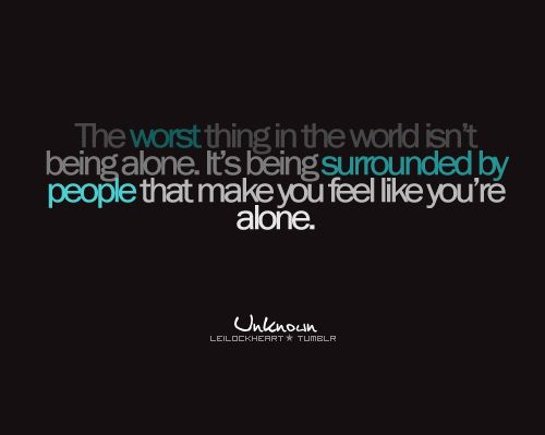 feeling alone quotes - Google Search