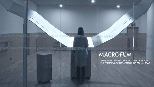 MACROFILM a permanent interactive installation for  The Museum of The History of Polish Jews
