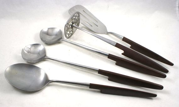 Vintage Danish Mid Century Modern Kitchen Utensils by Epic Forged Steel Japan by LuckySevenVintage, $60.00