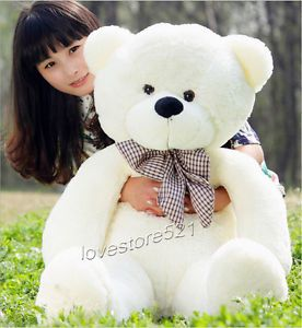 cadeau-Grand-nounours-geant-Pull-Ours-en-peluche-ourson-Teddy-Bear-80cm-160cm