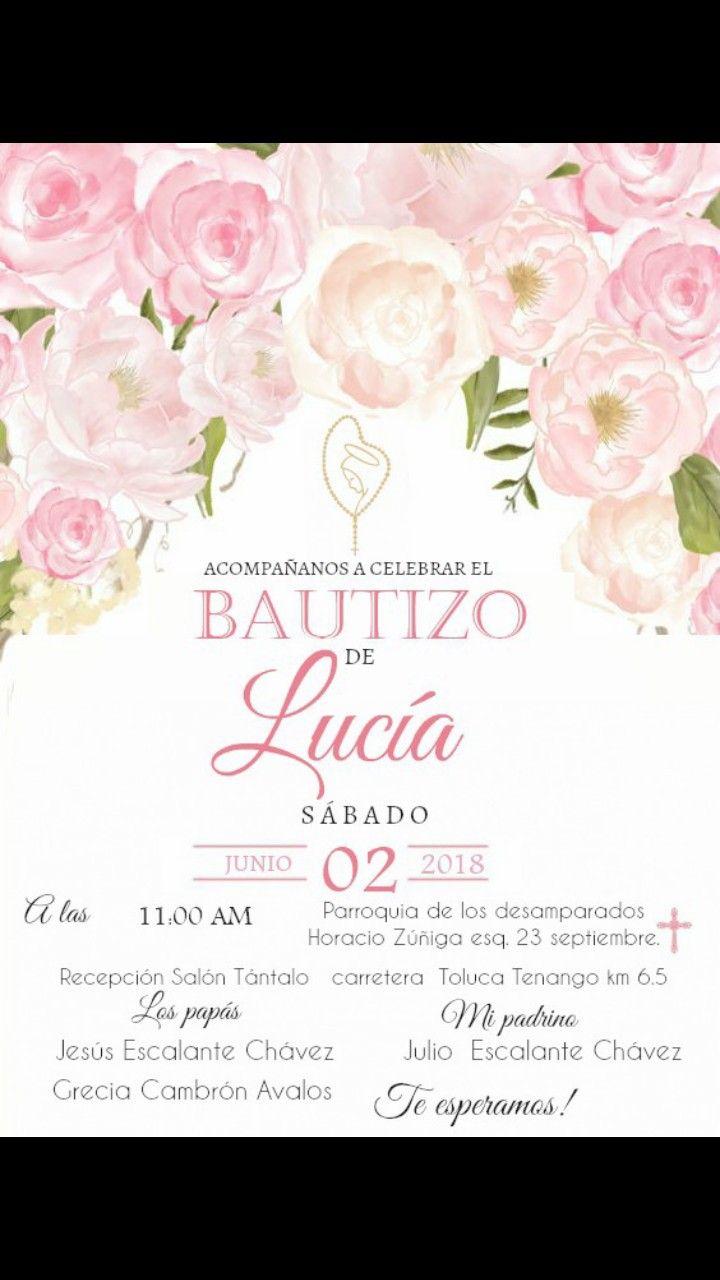 Invitación Bautizo Invitaciones Bautizo Invitacion