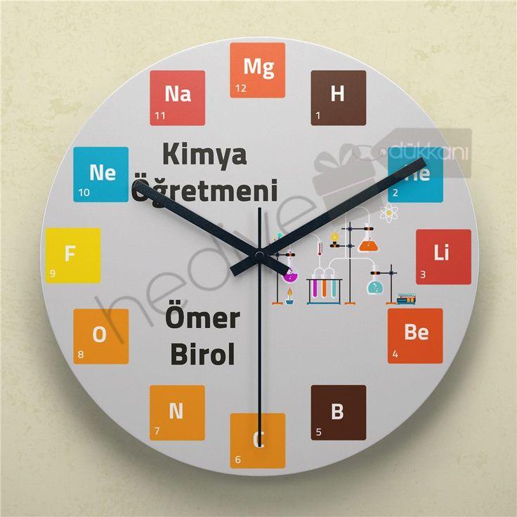 Kimya Öğretmenine Hediye Duvar Saati