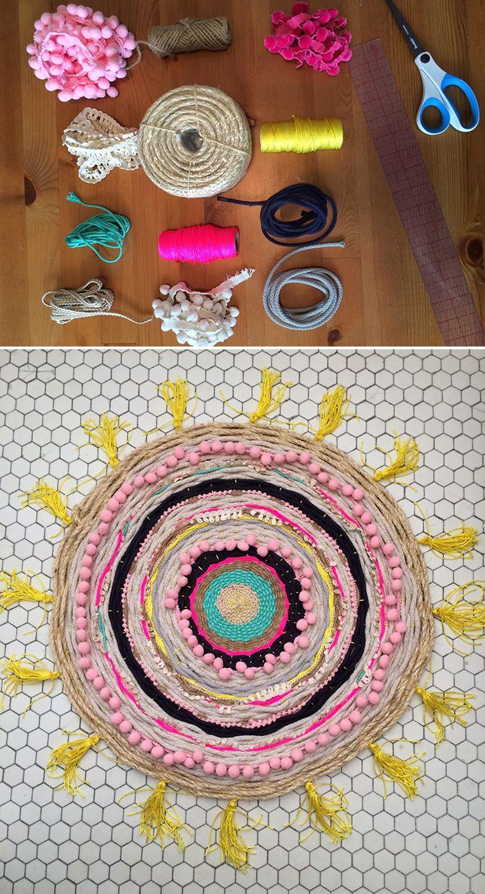 Amazing DIY woven rug tutorial