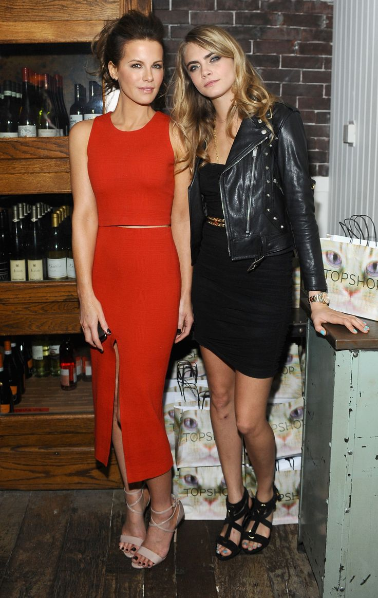 Kate Beckinsale and Cara Delevingne at The Face of an Angel world premiere party during #TIFF14. (Photo: Getty Images)