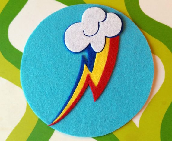 Rainbow Dash Cutie Mark / Magnet  My Little Pony by TwoPickles
