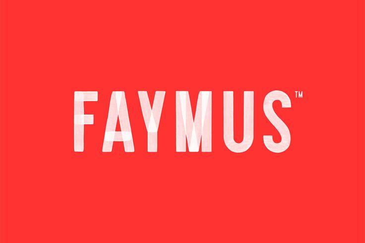 Logotype for property developer Faymus designed by Studio Brave.