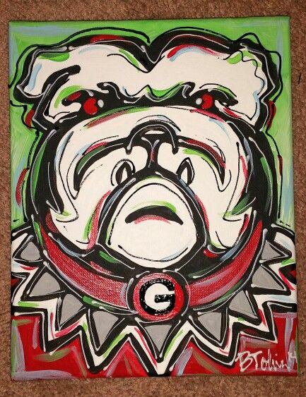 Georgia bulldog painting. 25  unique Georgia bulldog room ideas on Pinterest   Uga bulldog