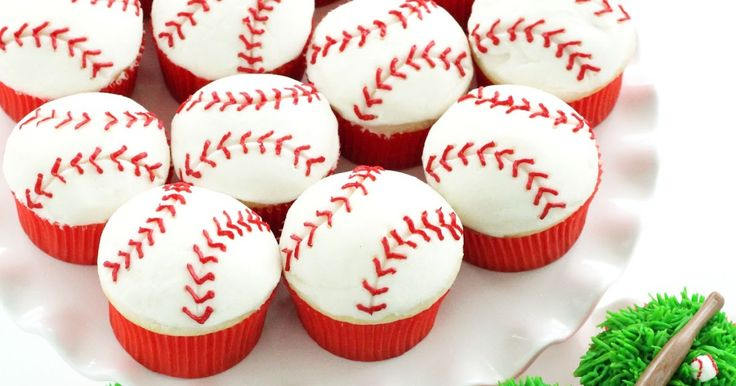 "Get ready to hit one out of the park with these assorted baseball cupcakes!  The ""official"" ball was caught at a Rockies/Padres game l..."