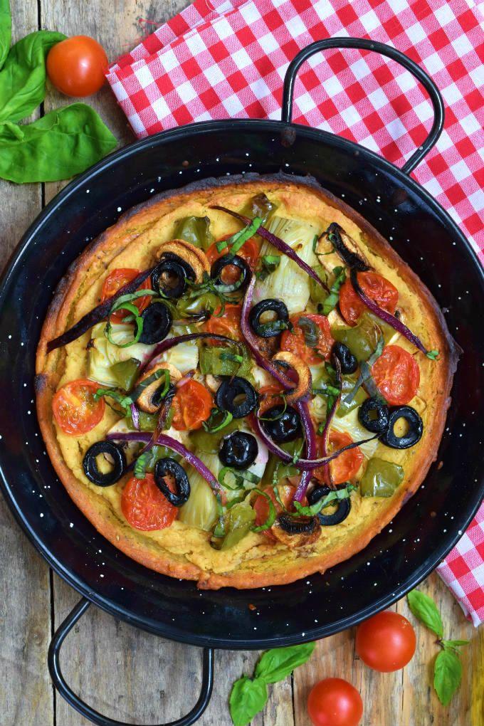 vegan bezlepková pizza