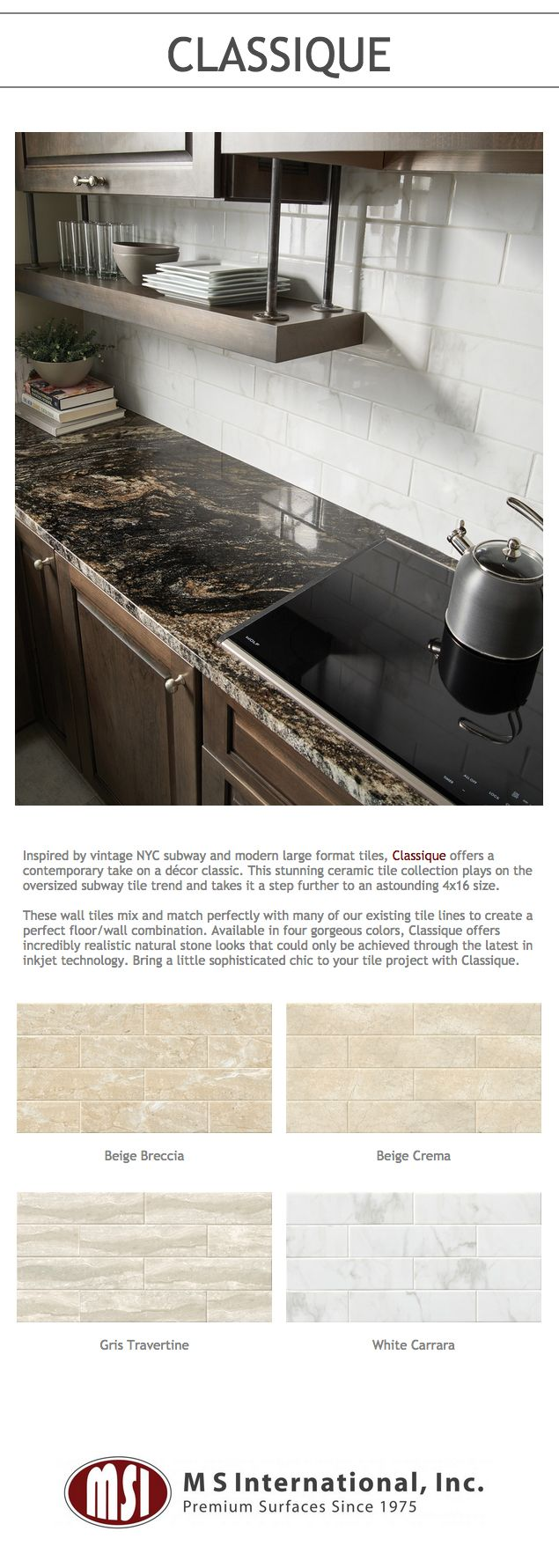 Inspired by vintage nyc subway and modern large format for Perfect tiles for kitchen