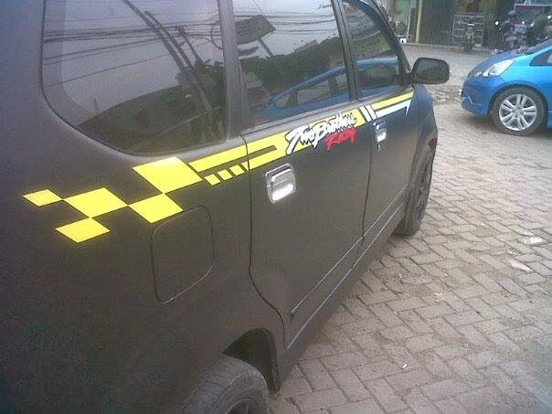 Barel Indo Designer: Avanza Black Dof Cutting Sticker