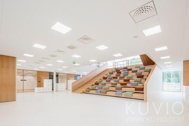 Ruusupuisto, University of Jyväskylä by SARC Architects. Building's auditorium.