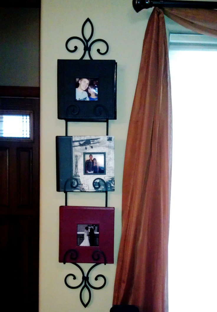 "MY REVIEW: Tried the ""plate holder to hold photo albums"" idea and love it! So much more fun than keeping photo albums in a box or never making prints of photos. This is now hanging in my living room."