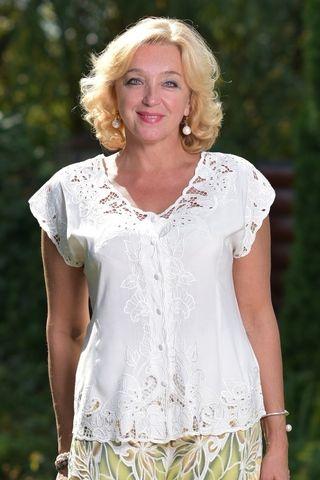 Блуза Баттерфляй  кремовая кебая