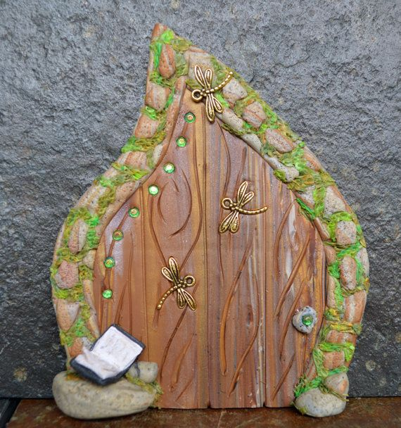 Fairytales moss miniature fairy door fairy garden by for Miniature fairy garden doors