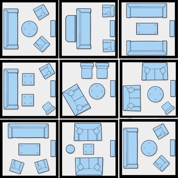 Варианты расстановки мебели в маленькой гостиной