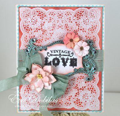 Vintage Love card designed Eva Dobilas