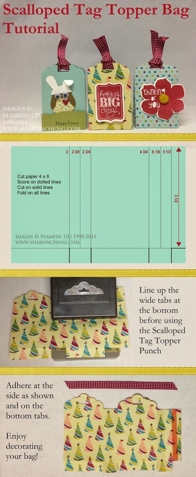 Scalloped Tag Topper Bag Tutorial and Video