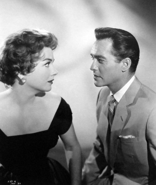 With Richard Todd in CHASE A CROOKED SHADOW (1958).