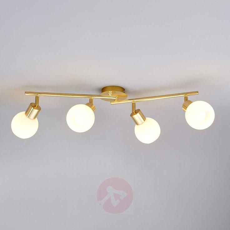Firepunkts LED-taklampe Elaina, messing.-9620024-30
